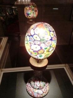 ミルフォリ・グラス・ランプ フラッテリ・トーゾ工房 1890-1910年頃 ヴェネチア.JPG