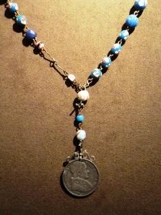 ローマ教皇(グレゴリオ16世)メダル付ビーズのロザリオ 1832年 ヴェネチア.JPG